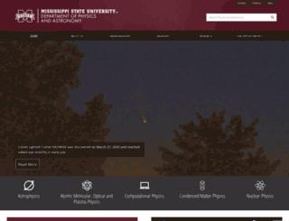 physics.msstate.edu screenshot