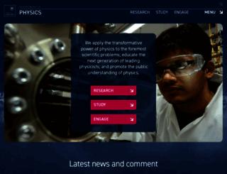 physics.ox.ac.uk screenshot