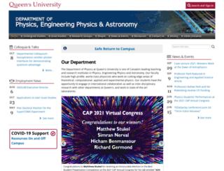 physics.queensu.ca screenshot