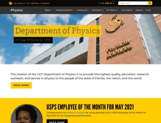 physics.ucf.edu screenshot