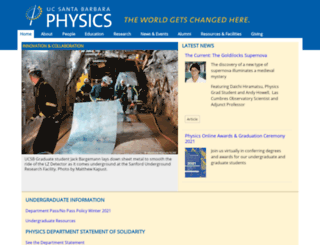 physics.ucsb.edu screenshot