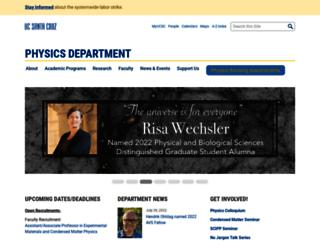 physics.ucsc.edu screenshot