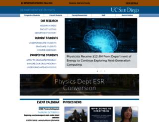 physics.ucsd.edu screenshot
