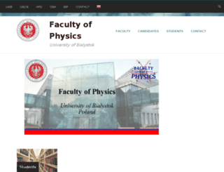 physics.uwb.edu.pl screenshot