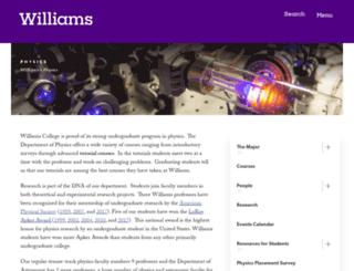 physics.williams.edu screenshot