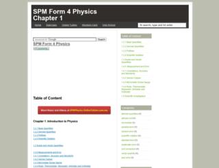 physics401.one-school.net screenshot