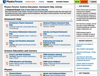 physicsforums.com screenshot