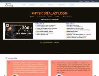physicsgalaxy.com screenshot