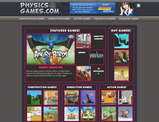 physicsgames.com screenshot