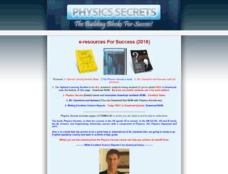 physicssecrets.com screenshot