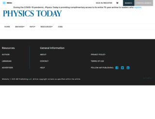 physicstoday.org screenshot