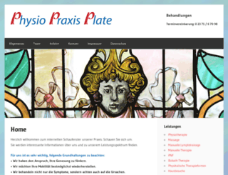physio-praxis-plate.de screenshot