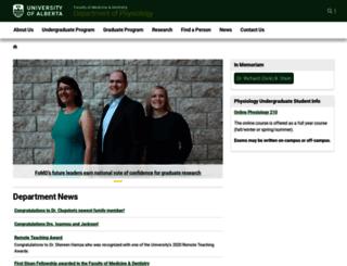 physiology.ualberta.ca screenshot