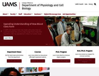 physiology.uams.edu screenshot