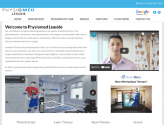 physiomedleaside.com screenshot