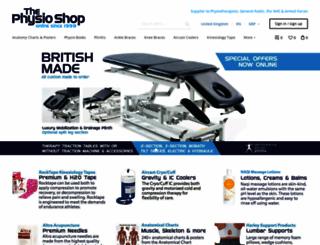 physioshop.co.uk screenshot