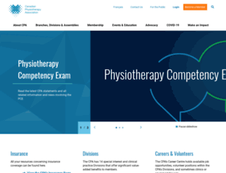 physiotherapy.ca screenshot