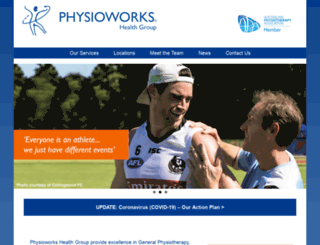 physioworkshealthgroup.com.au screenshot