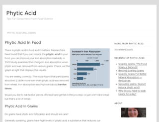 phyticacid.org screenshot
