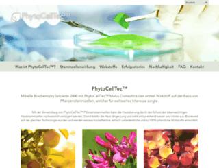 phytocelltec.ch screenshot