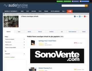 piano-acoustique-virtuel.audiofanzine.com screenshot