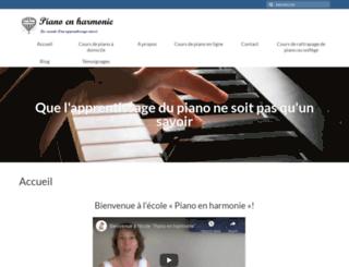 piano-en-harmonie.com screenshot