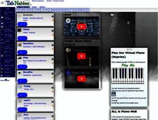 piano.tabnabber.com screenshot
