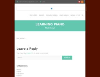 piano4learners.com screenshot