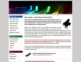 pianoscales.org screenshot