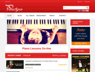 pianostop.com screenshot
