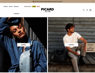picard-lederwaren.de screenshot