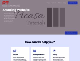 picasatutorials.com screenshot