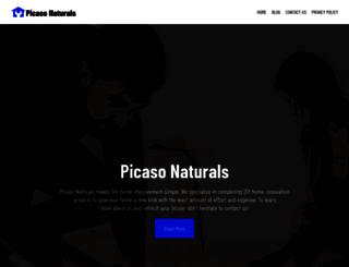 picasonaturals.com screenshot
