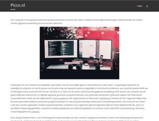 picco.nl screenshot