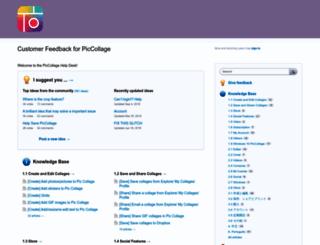 piccollage.uservoice.com screenshot
