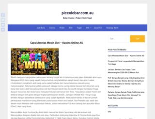 piccolobar.com.au screenshot