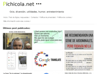 pichicola.com screenshot