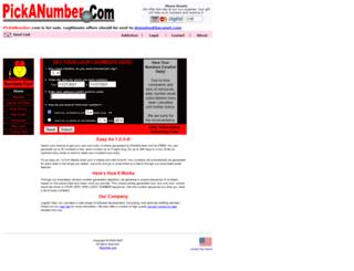pickanumber.com screenshot