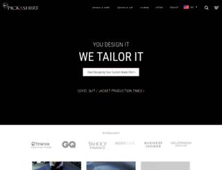 pickashirt.com screenshot