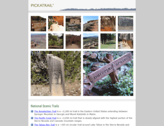 pickatrail.com screenshot