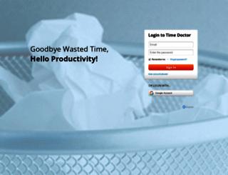 pickaweb.timedoctor.com screenshot