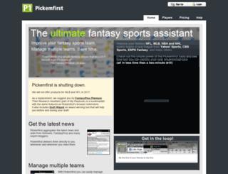 pickemfirst-hrd.appspot.com screenshot