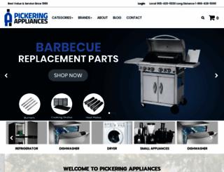 pickeringappliance.com screenshot