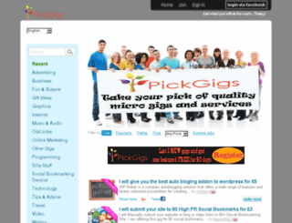 pickgigs.co.uk screenshot