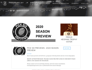 picksixpreviews.com screenshot