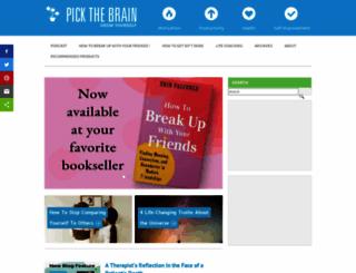 pickthebrain.com screenshot