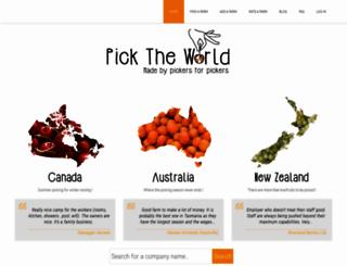 picktheworld.org screenshot