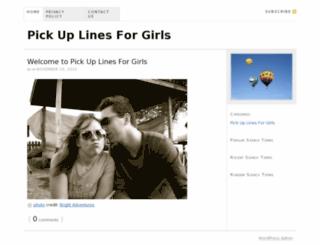 pickuplines4girls.com screenshot
