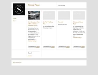 picky01.wordpress.com screenshot