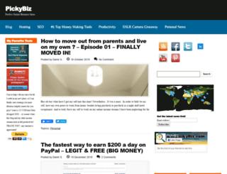 pickybiz.com screenshot